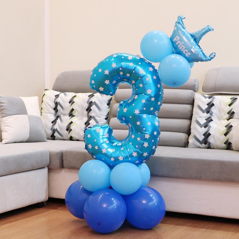 Sifferballongset Blå