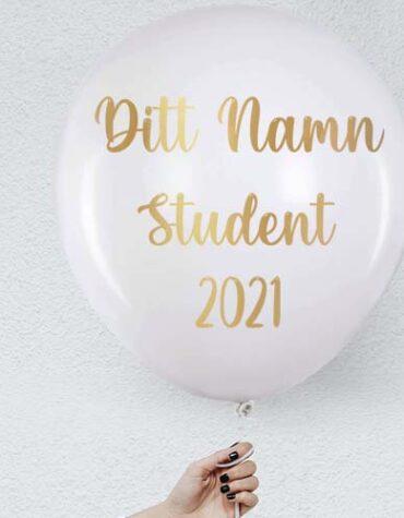 Eget namn med stor ballong - Student 2021