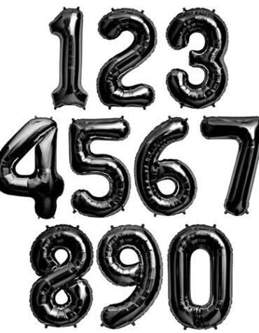 sifferballong svart