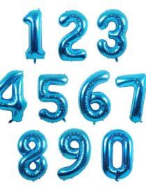 sifferballong blå