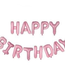 happy birthday folieballonger rosa
