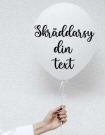 skäddarsydd text + ballong