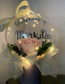 Bubbelballong med LED mors dag