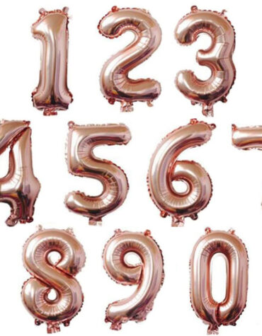 rosegold number balloon 32 inch