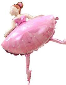 folieballong ballerina rosa