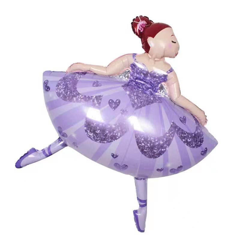 folieballong ballerina lila
